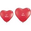 Raudonos širdys. Dydis - 16''(40 cm). Vnt.kaina