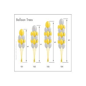 Balionų puokštės (galimi varijantai)