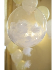12'' kristalinis, skaidrus balionas, vnt. kaina