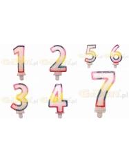 """Gimtadienio žvakutė spalvota - """"1 iki 9"""""""