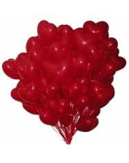 Balionas širdelės 28 cm  su heliu