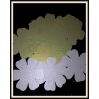 Stalo kortelės (ar dekoracijom) - gėlytės,  vnt kaina