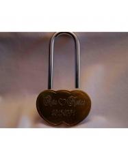 Spyna širdelės fomos, su raktu