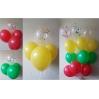 Balionai su heliu ir konfeti