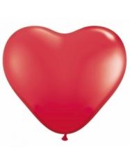 Balionai - raudonos širdys. 28 cm