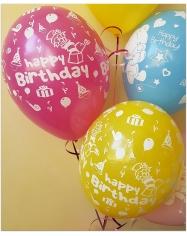 Balionai gimtadieniui:berniukams, mergaitėms 28-32 cm su heliu