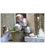 """Orbz'ai """"Veidrodiniai"""", foliniai, apvalus, 38-40 cm  balionas su heliu (vnt.kaina)"""