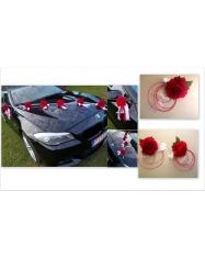 Dekoracija ant mašinos- rožės, vnt. kaina
