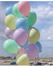 Balionas su heliu pastelinių spalvų