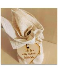 Medinis medalis - širdelės formos