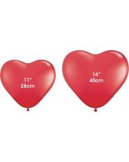 Raudonos širdys. 28 cm. vnt.kaina