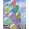 Balionas su heliu švelnių pastelinių spalvų