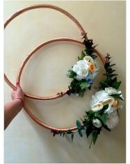 Žiedo - lanko formos dekoracija vnt. kaina