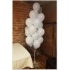 LED balti ir  (keičiasi efektas) su helio balionais